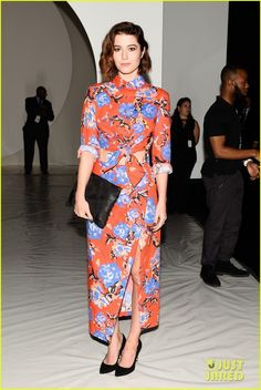 Mary Elizabeth Winstead at the Monique Lhuiller fashion show.