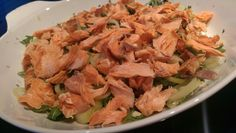 Lakse salat Lchf, Cabbage, Vegetables, Ethnic Recipes, Food, Essen, Cabbages, Vegetable Recipes, Meals