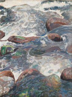 Pekka Halonen (Finnish, 1865-1933), Rocky Rapids, 1916. Oil on canvas, 55 x 41 cm.