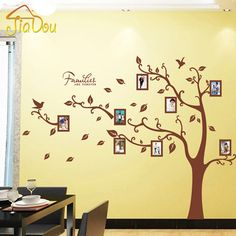 Large Brown 3D DIY Photo Tree PVC Wall Decals/Adhesive Family Wall Stickers Mural Art Home Decor 160*216cm/63*85in