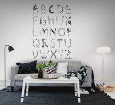 Wall mural R13192 ABC for the spelling bee, Black
