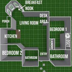 Tiny House Layout, House Layout Plans, House Layouts, Sims 4 Houses Layout, Sims 4 House Design, Unique House Design, Simple Bedroom Design, Sims 4 House Plans, House Floor Plans