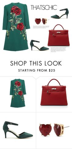 """10"" by meldiana ❤ liked on Polyvore featuring Dolce&Gabbana, Hermès, Sole Society and Betsey Johnson"