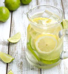 Une detox water au citron et citron vert