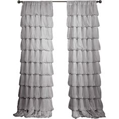 Refresh your master suite or guest room with this lovely curtain, showcasing a ruffled design.  Product: Curtain panel