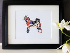 Japanese Chiyogami Paper II Shiba Inu Dog by scratchandsniff