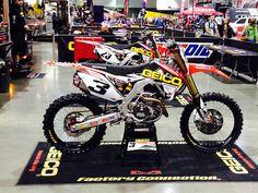 2014 Atlanta Supercross Eli Tomac's Geico Honda CRF450R by Tony Blazier, via…