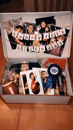 boyfriend birthday gift ♥ created this birthday box for my. boyfriend birthday gift ♥ created this birthday box for my boyfriend's birthday. inspired by another . Diy Christmas Gifts For Boyfriend, Creative Gifts For Boyfriend, Cute Boyfriend Gifts, Boyfriend Anniversary Gifts, Boyfriend Gift Basket, Boyfriend Boyfriend, Birthday Ideas For Boyfriend, Birthday Surprise Boyfriend, Boyfriend Crafts