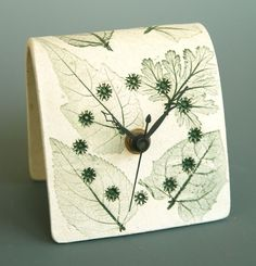 Green Desk Clock by botanicraft on Etsy, $18.00