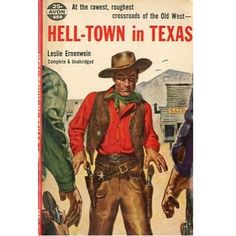 Hell-Town in Texas, 1955, vintage western paperback #BOOK