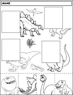 Dinosaur Worksheets, Dinosaur Activities, Kids Math Worksheets, Dinosaur Crafts, Autism Activities, Kindergarten Activities, Preschool Lessons, Preschool Learning, Preschool Crafts