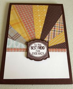 Lovely use of the sunburst technique on this card by Pauline Bennetts