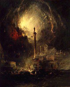 ames Hamilton (1819-1878), The Last Days of Pompeii - 1864