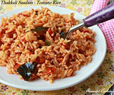 Aromatic Cooking: Thakkali Saadam/ Tomato Rice