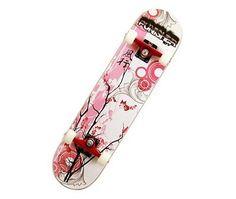 Punisher-Skateboards-Punisher-Cherry-Blossom-Complete-Skateboard-Red-31-Inch