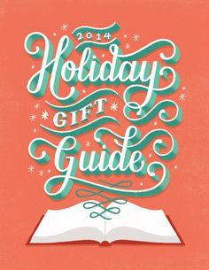 Lauren Hom / TIME Magazine Holiday Gift Guide #typography #lettering #illustration
