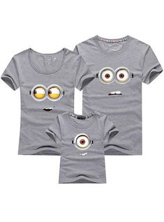 Cotton Family Matching Outfits Minions T Shirts mother & kids T-shirt Family Clothing Mother And Daughter Clothes Mother Daughter Matching Shirts, Mother Daughter Outfits, Mother Father And Baby, Minion Outfit, Minion Shirts, Family Vacation Shirts, Mommy And Me Shirt, Matching Family Outfits, Matching Pjs