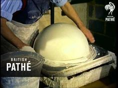 """British Pathé posted archival footage from 1955 that gives us a look at how a """"famous North London firm of geographers"""" in London made terrestrial globes, Chicago History Museum, Messy Nessy Chic, World Globes, Mechanical Design, North London, British, Traditional, Handmade, March 7"""