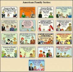 Tom Tierney's (whitewashed) American Family paper dolls.