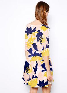 Elsa Boch, patterned dress