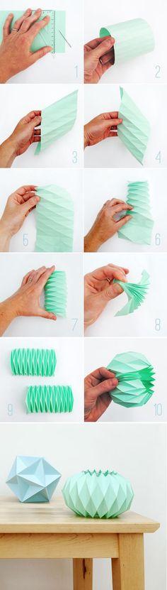 DIY origami light