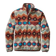 Patagonia - W's Lightweight Synchilla Snap-T Pullover - Timber Twist: Cinder Red