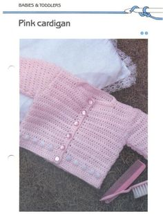 Pink Cardigan free crochet pattern by kerry
