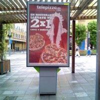 Publicidad mupis Alicante - TELEPIZZA