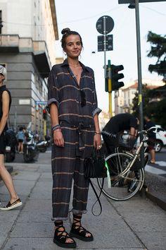 Street style jump suit.