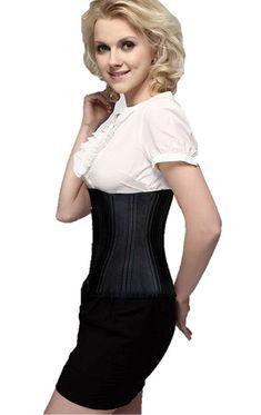 15317f75a0 Camellias Women 26 Double Steel Boned Waist Training Corset Trainer  Shapewear Waist Slimming Cincher for Weight