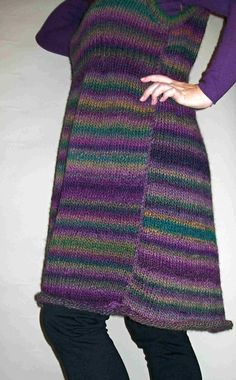 Dress from self-striping Himalaya yarn