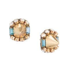 Sparkle Spike Stud Earrings Gold with your by DolorisPetunia, $99.00