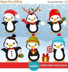80% OFF Venta Navidad pingüino clipart clipart por PremiumClipart