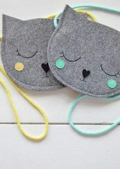 Cute kitty purse inspiration to make http://amzn.to/2k2HTMQ