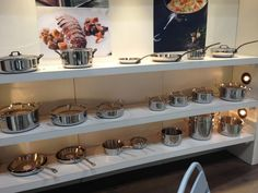 Mauviel display at the International Housewares Show 2013 in Chicago. how gorgeous!!