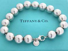 Tiffany Bead Bracelet, Tiffany And Co Jewelry, Tiffany Bracelets, Cute Bracelets, Fashion Bracelets, Link Bracelets, Beaded Bracelets, Tiffany Jewellery, Return To Tiffany