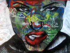 Angelina Julie Spray paint portrait by A1one A.k.a Tanha, via Flickr