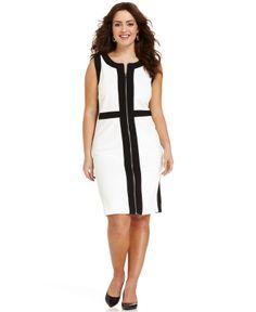 Spense Plus Size Sleeveless Colorblocked Sheath Dress - Plus Size Dresses - Plus Sizes - Macy's