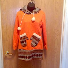 Unique Hoodie I don't know, I think it's cute! People like my pockets on this.m Sweaters