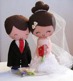 Casando com Economia: Noivinhos de Feltro