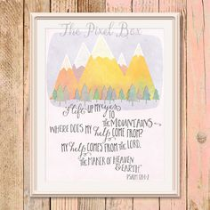 Printable art Inspirational Wall art Poster Quote Motivational saying Mountains printable Christian Bible verse Typography Love Life by ThePixelBox on Etsy