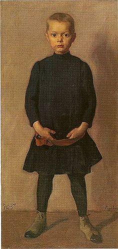 Egger-Lienz, Albin (1868-1926) - 1908 The Artists Son, Fred (Tiroler Landsmuseum Ferdinandeum, Innsbruck, Austria) by RasMarley, via Flickr