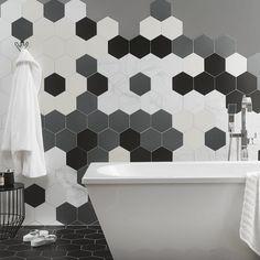 Hexagon Bathroom tiles black and white for the modern bathroom