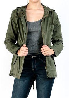 #aff Fashion Boomy Womens Zip Up Military Anorak Jacket W/Hood at Amazon Women's Coats Shop  |gifts for her | Christmas gifts for her | gifts for wife | gifts for mom | gift for girlfriend | womens fashion | fall fashion | winter fashion |