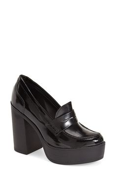 Free shipping and returns on Steve Madden 'Juniper' Pump (Women) at Nordstrom.com. Penny-loafer styling adds a menswear-inspired element to a standout pump grounded with a retro-chic platform sole.