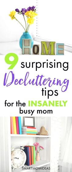 Decluttering ideas for busy moms! Overwhelmed with decluttering your home? Get some tips to declutter your home, bedroom, kitchen and more. Get a clutter-free and minimalism home with kids! | room by room | organize home ideas | messy home clutter #tipstodeclutteryourhome #clutterfree