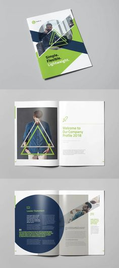 Multipurpose Company Profile Template InDesign - 24 pre-made pages Company Profile Design Templates, Poster Background Design, Sewing Machines, Print Templates, Brochure Template, Star, Card Templates Printable, Flyer Template, Booklet Template