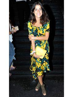 Leandra Medine     Vena Cava Preminger Dress Jimmy Choo shoes