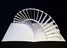 Paper pop up sculpture Pop Up Art, Origami And Kirigami, Paper Pop, Paper Engineering, Book Sculpture, Paper Sculptures, Grafik Design, Paper Cutting, Curved Lines