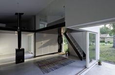 very small house but nice open interior:  Palladio-Strandbaden, Höganäs, Sweden  by: DinellJohansson